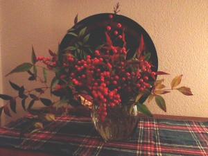 Arranging berries and leaves gave me great joy, informing my expression.