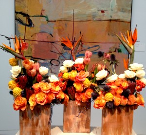 One of favorite flower and art combos at the museum. So rich and bright, like our hearts!
