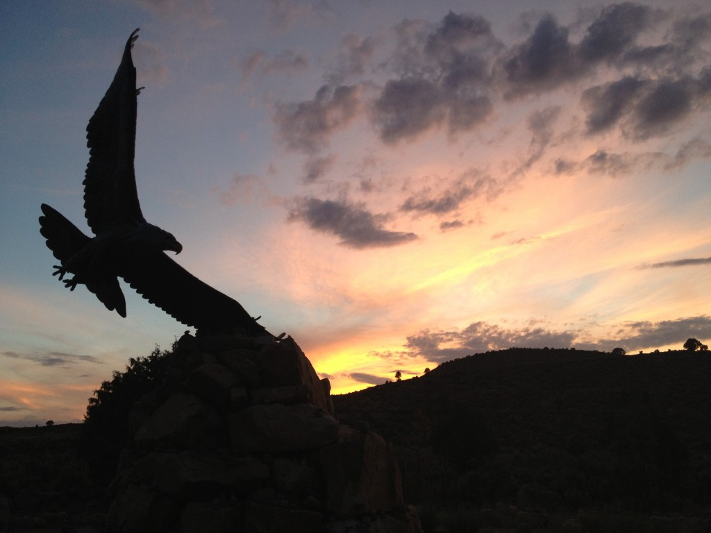 A remarkable eagle sculpture visited on my recent Colorado trip. I love how it is positioned  in flight. It is time to spread our huge wings and take flight!