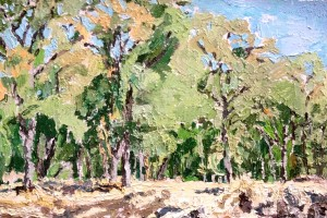 My youngest son's lastest painting allows me to move into a new landscape and hear the trees speak their love for me/us.