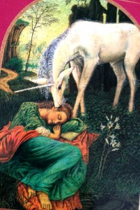 The cover illustration from Michael Green's book. All the kingdoms will be with us once again, including the unicorns!