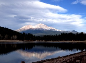 Mount Shasta reflected.