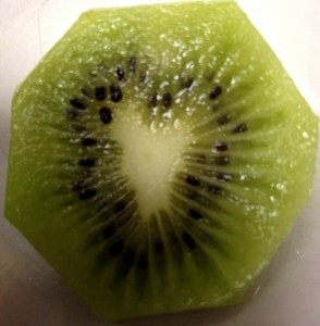 My morning kiwi sharing her heart with me. All the universe reflects back our love when we know our own shine.
