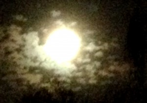 The full moon, shrouded in mystery, opening us to the mystery and wonder of ourselves.