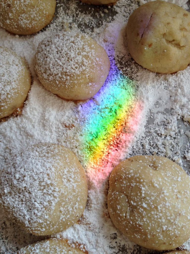 Rainbows and Christmas cookies.....