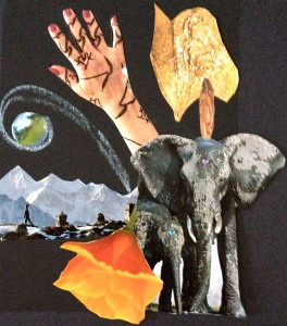 Collages are a fun way to see what our hearts are yearning for. Elephants and mountains are talking to me these past few days.