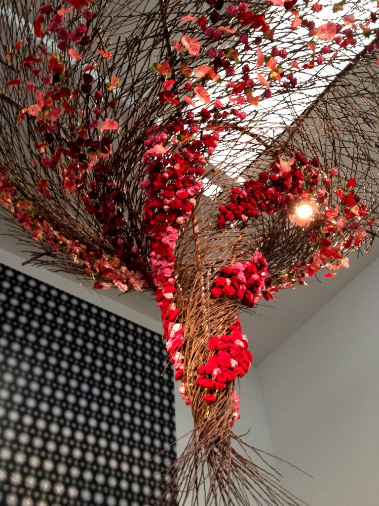 A vortex of reeds and flowers that was the highlight of this year's flower and art show in San Francisco.