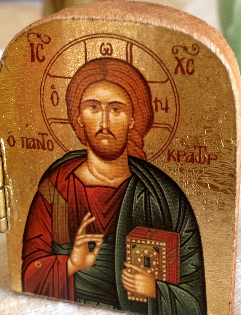 I love icons with gold leaf and symbols and I love my brother, whatever image we seek to capture him in.