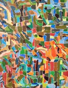 One of Gabriel's recent paintings. Look at all the individual parts creating the whole tapestry.