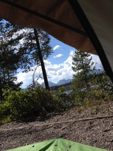 View from my tent, camping spot of my dream.