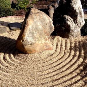 A zen garden offering its serenity.
