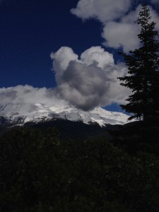 Heart cloud floating on Mount Shasta.