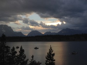 Thunder storms moving in across the Tetons.