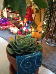 A friend gave me a plant to place in the garden of my new home....I was touched that she sees that coming as I do.
