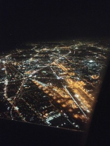 Grids of light as I approached LA for my night flight to Montreal.