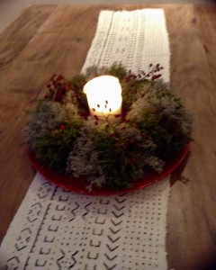 Moss wreath from my daughter-in-love's hands.