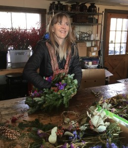 Wreath making in  Vermont