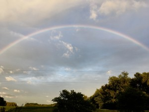 Magnificent rainbow that we watched form on the 9-9 gateway. We are being invited to enter in.