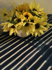 Last bouquet of sunflowers from the garden.