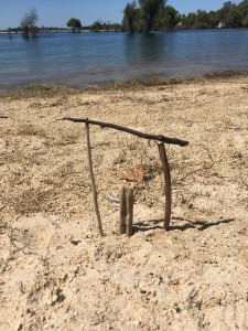 My grandson's creation at the lake yesterday. We know when we are at the gateway of our own truth. The question is, will we take the step forward?
