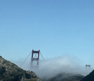 A recent trip to San Francisco to pick up my grandson from his trip, the fog was shrouding the Golden Gate bridge just as this anger shrouded my heart.